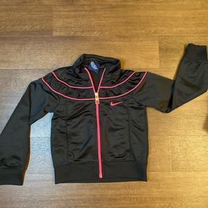 Black/Pink Nike Girls Track Jacket -3T